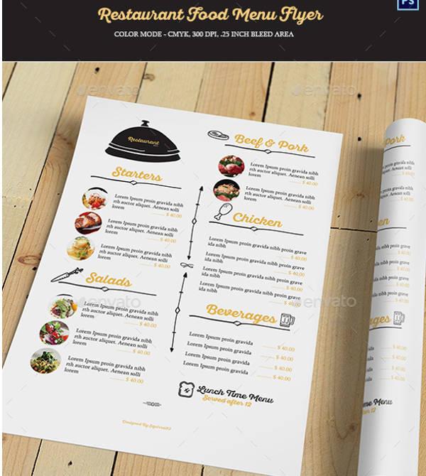 food menu restaurant flyer1