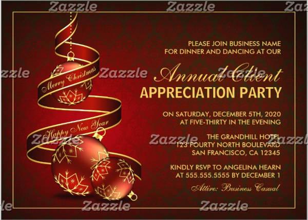 formal appreciation dinner invitation