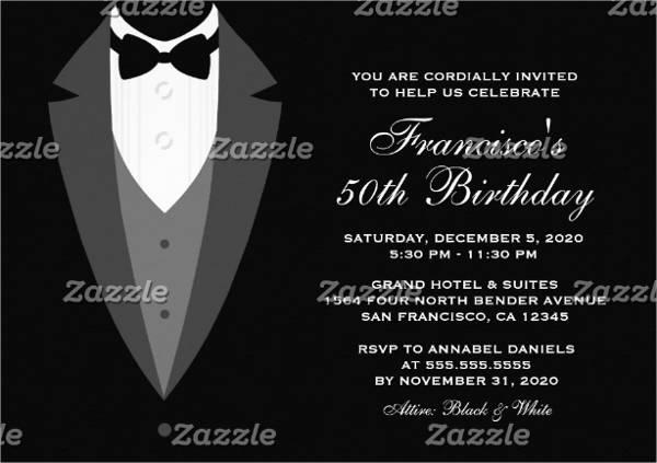 formal birthday event invitation1
