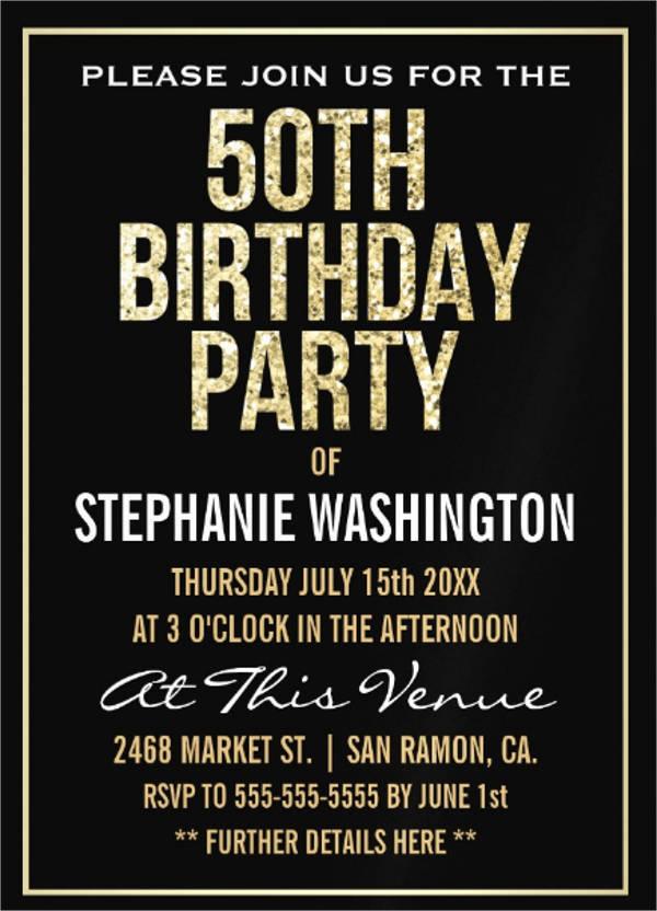 formal birthday party invitation1