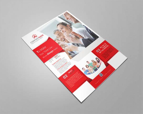 formal business event flyer