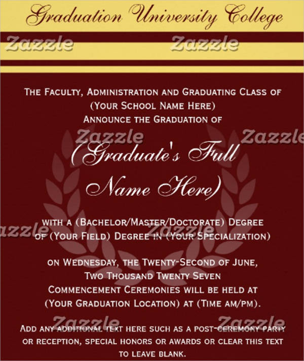 formal college graduation template