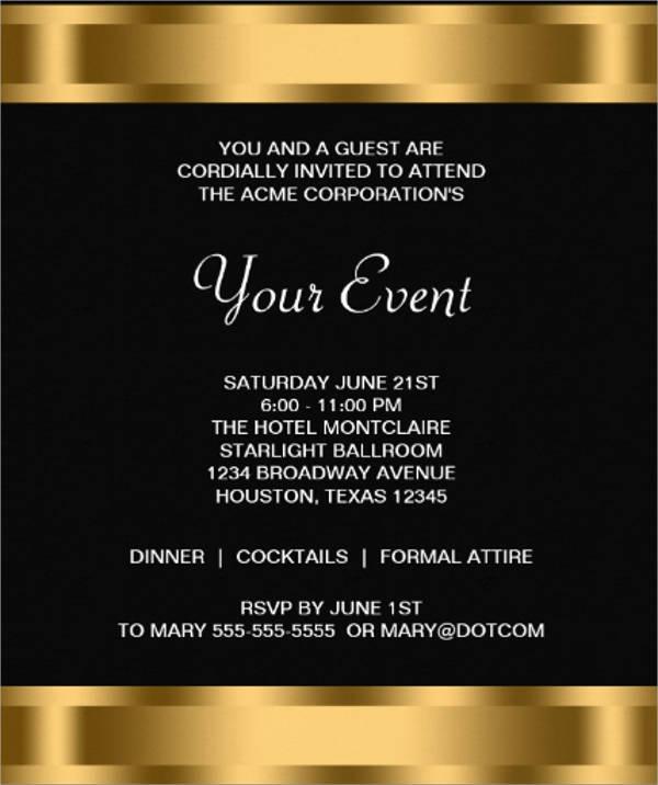 formal corporate event invitation