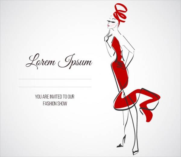 formal fashion event invitation