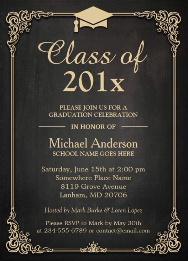 formal high school graduation invitation1