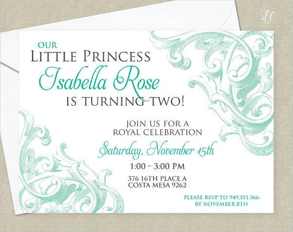 formal kids birthday invitation1
