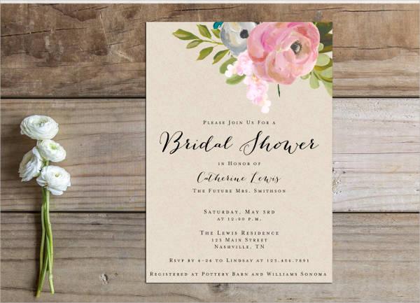 formal wedding shower invitation