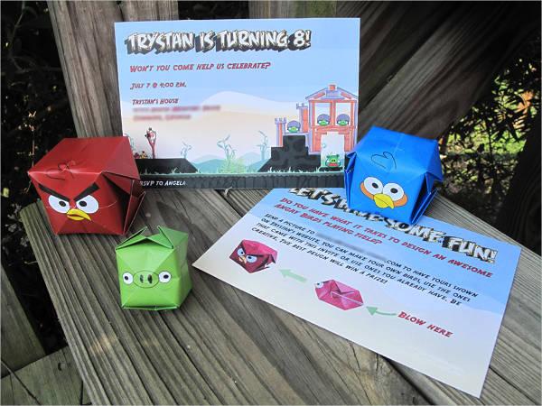 free angry birds birthday invitation template