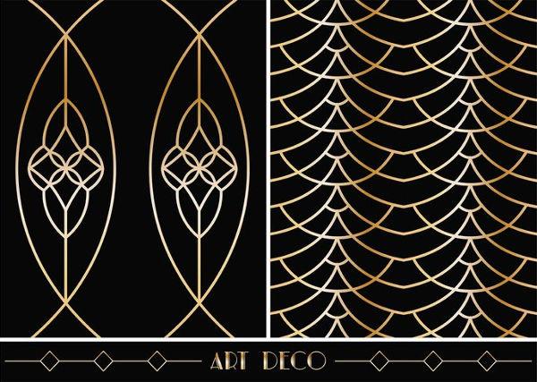 free art deco geometric patterns