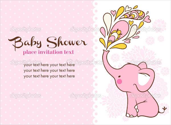 free baby shower elephant invitation template