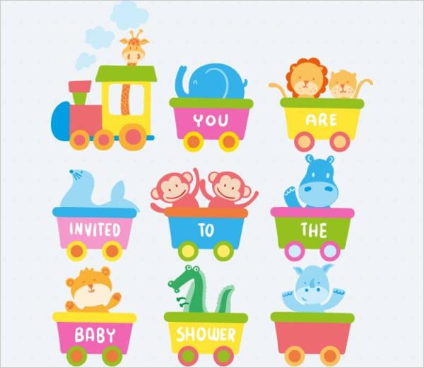 free baby shower monkey invitation template