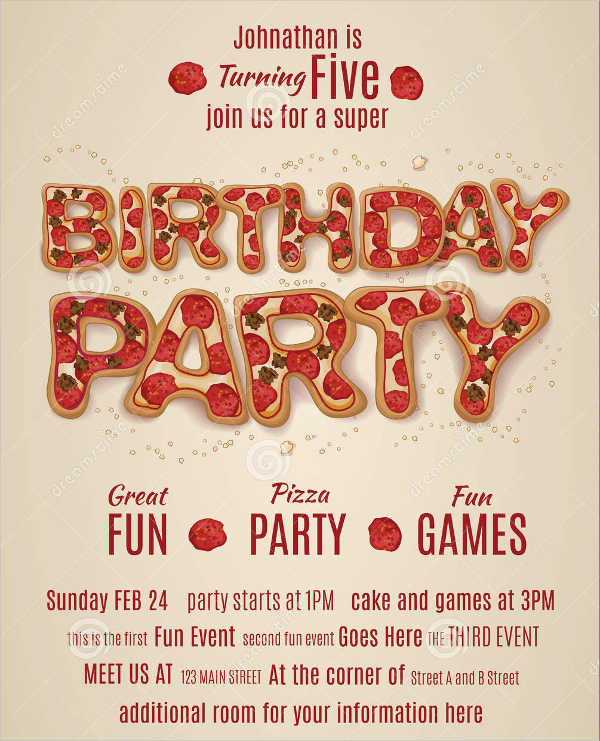 free birthday party invitation flyer1