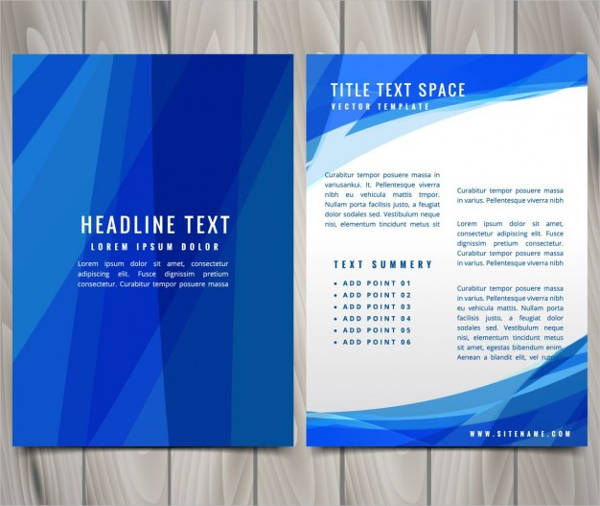 free blue abstract flyer