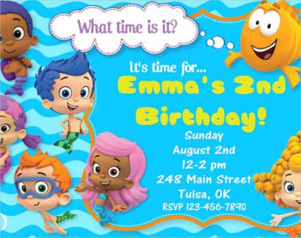 free bubble guppies birthday invitation template