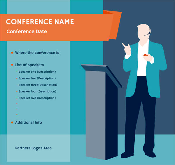 free business conference poster