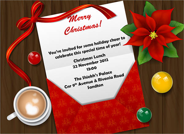 free christmas lunch invitation template