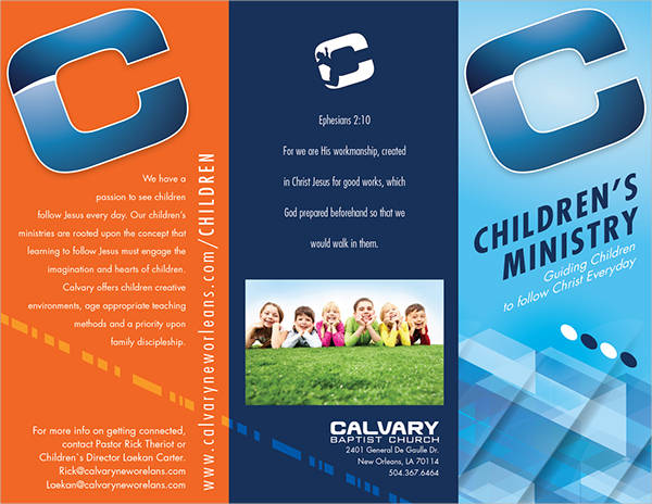 free church ministry brochure
