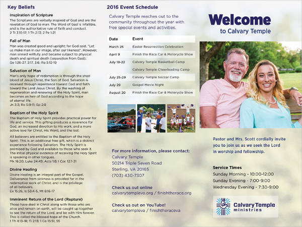 free church welcome brochure