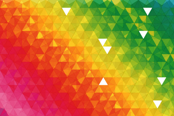 free colorful triangle patterns