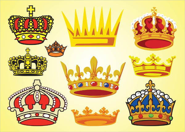 free crown vector art