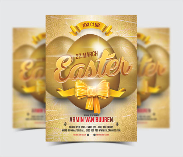 free easter egg event flyer