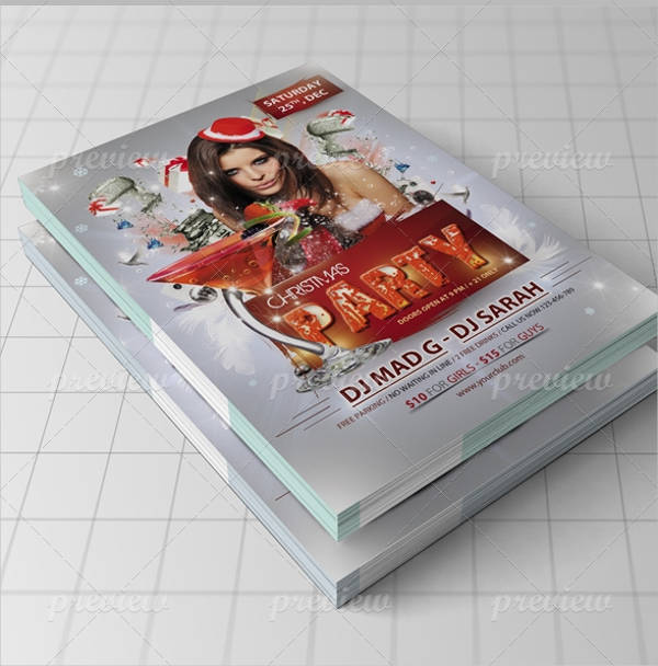 free elegant christmas flyer
