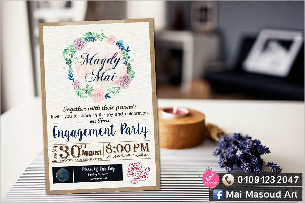free engagement invitation template