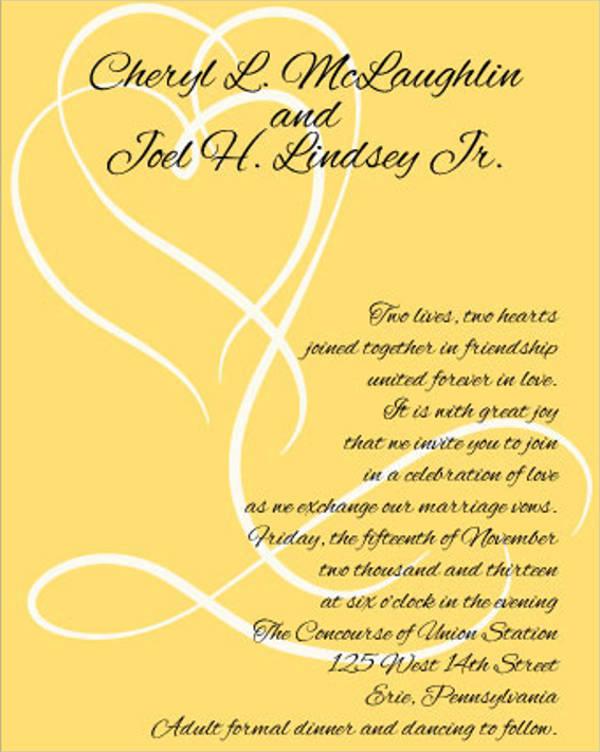 free fall wedding invitation template