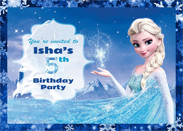 free frozen invitation template