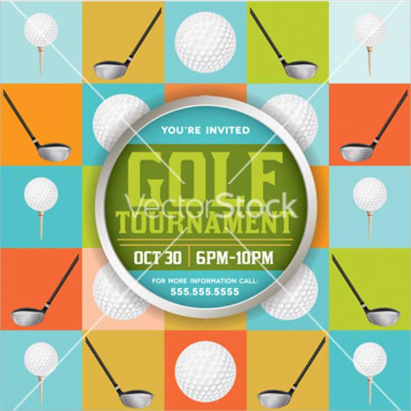 free golf themed invitation template