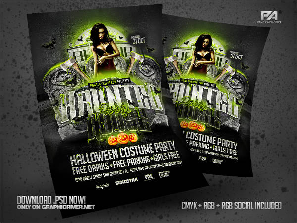 free haunted house flyer