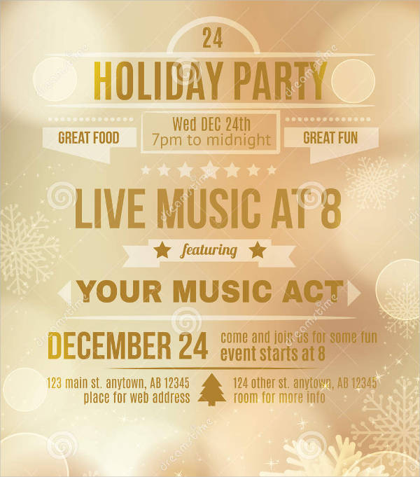 free holiday party flyer