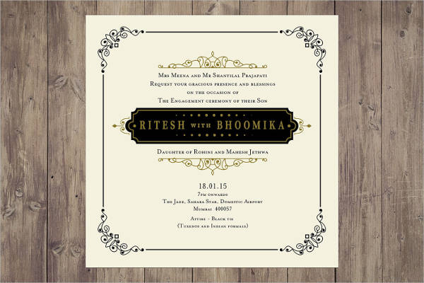 free indian engagement invitation template