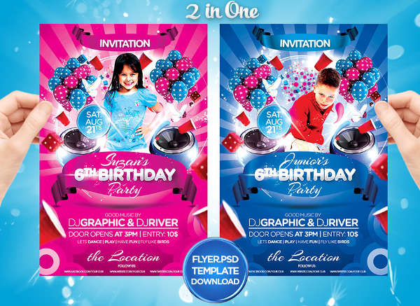 free kid birthday party invitation