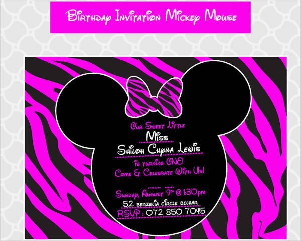 free mickey mouse birthday invitation template