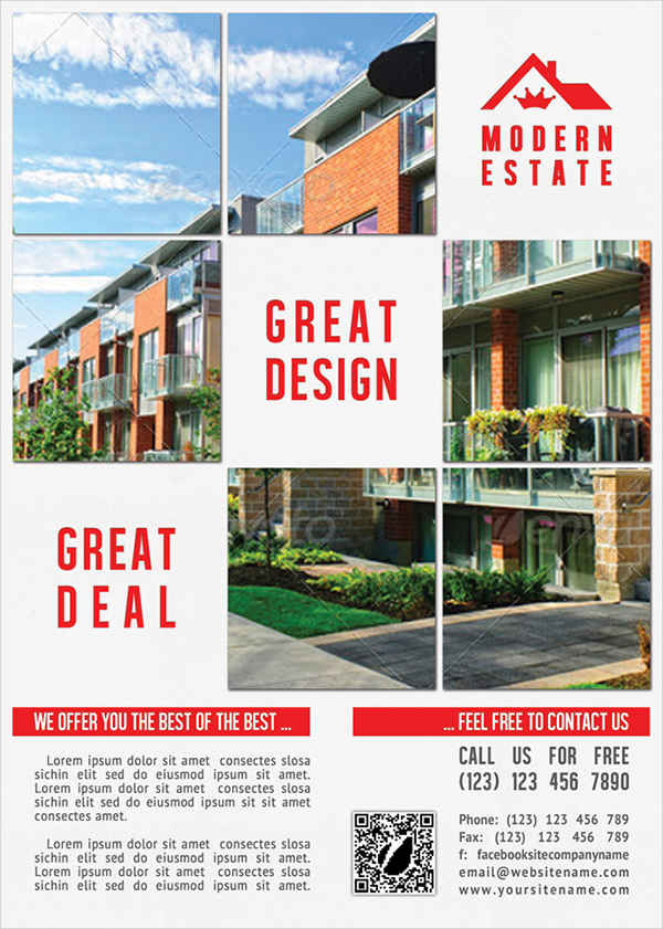 free modern real estate flyer