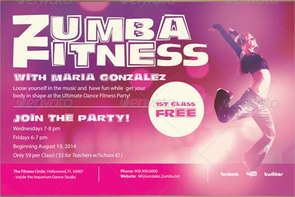free psd fitness class flyer