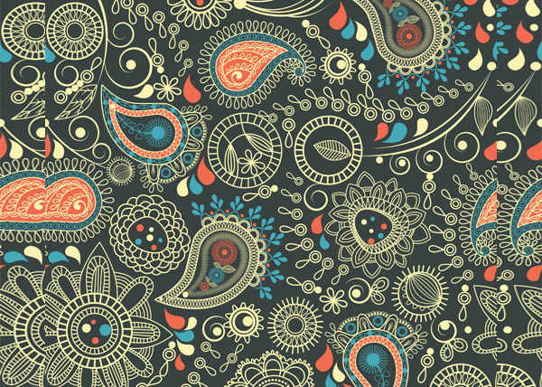 free psd paisely patterns