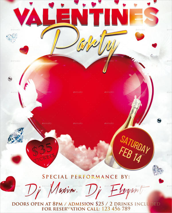 free psd valentine's party flyer1