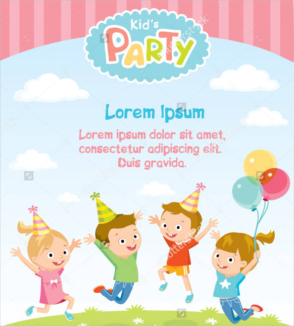 free printable children's party invitation
