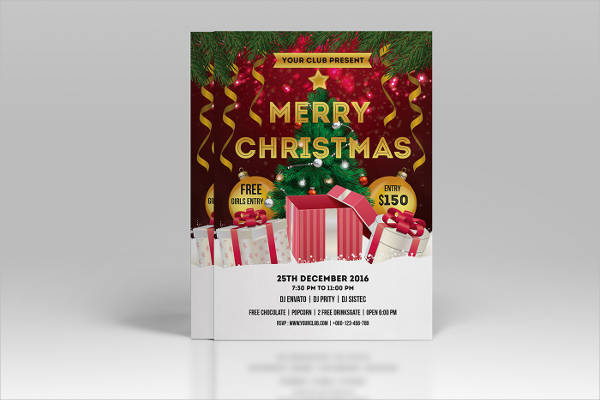 free printable christmas party flyer