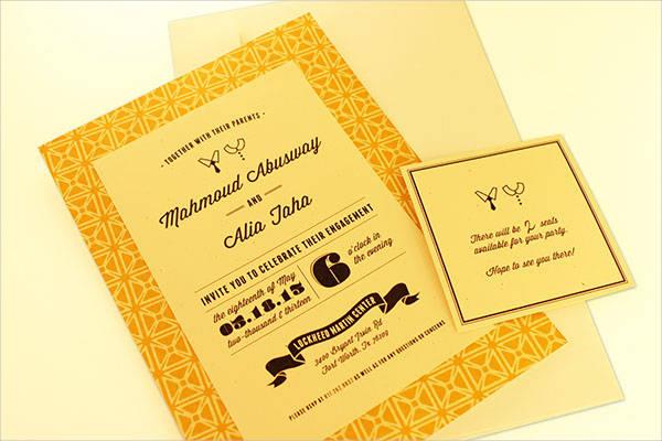 free printable engagement invitation template