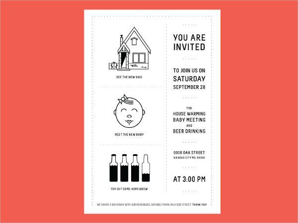 free printable housewarming invitation template