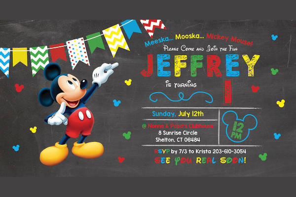 free printable mickey mouse invitation template1