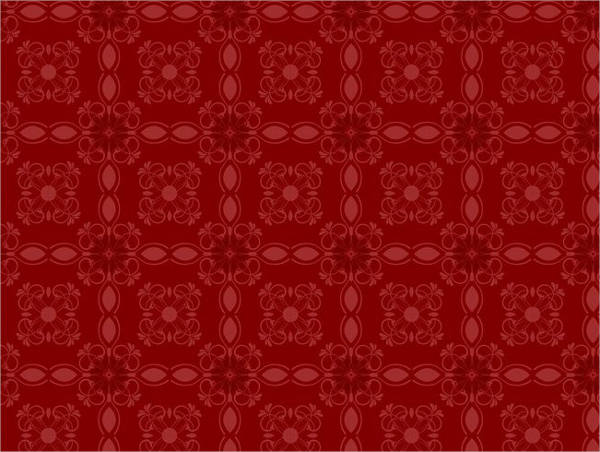 free red coloured floral vector patern
