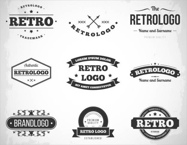 free retro vintage logo template