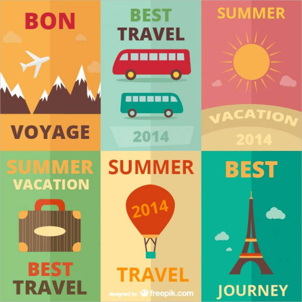 free travel poster template1
