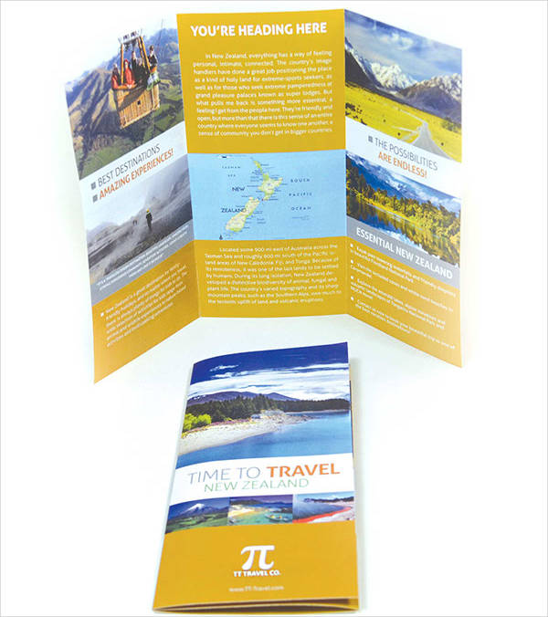 30 free downloadable brochures for Tri fold travel brochure