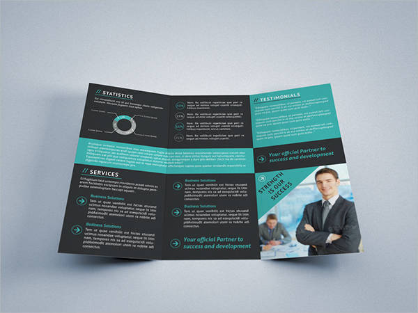free tri fold business brochure