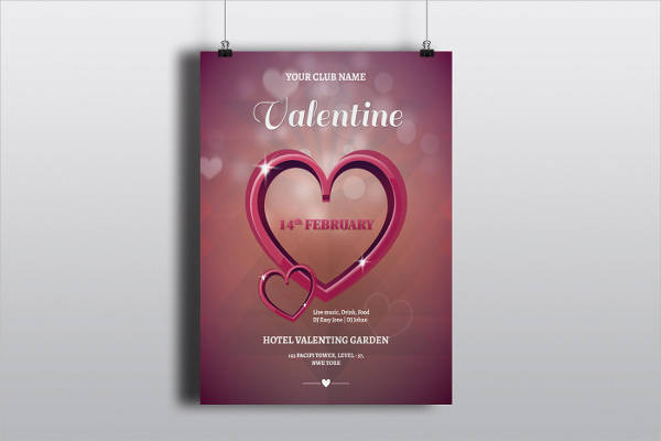 free valentine's party flyer
